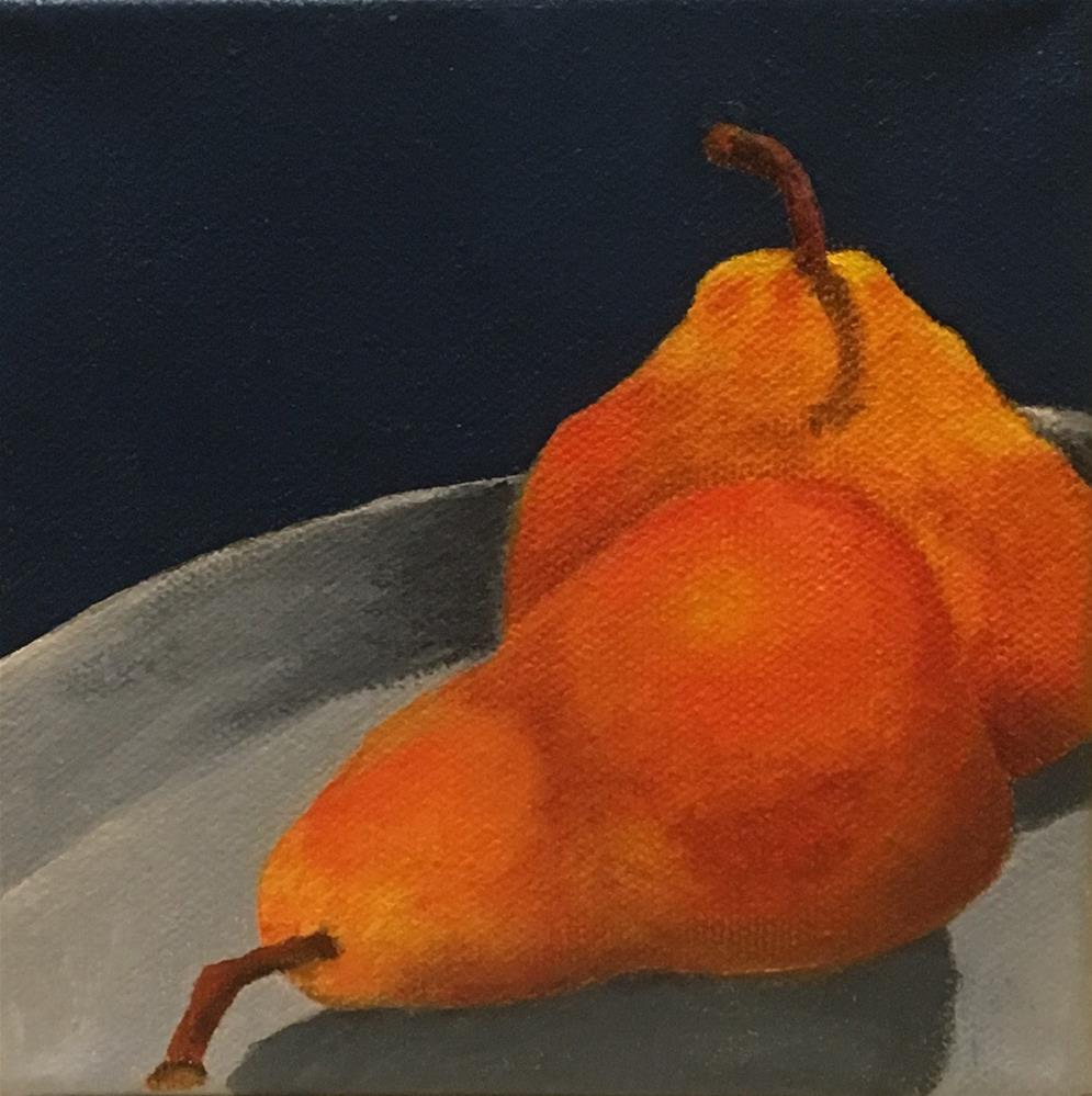 """Two Pears"" original fine art by Karen Collins"