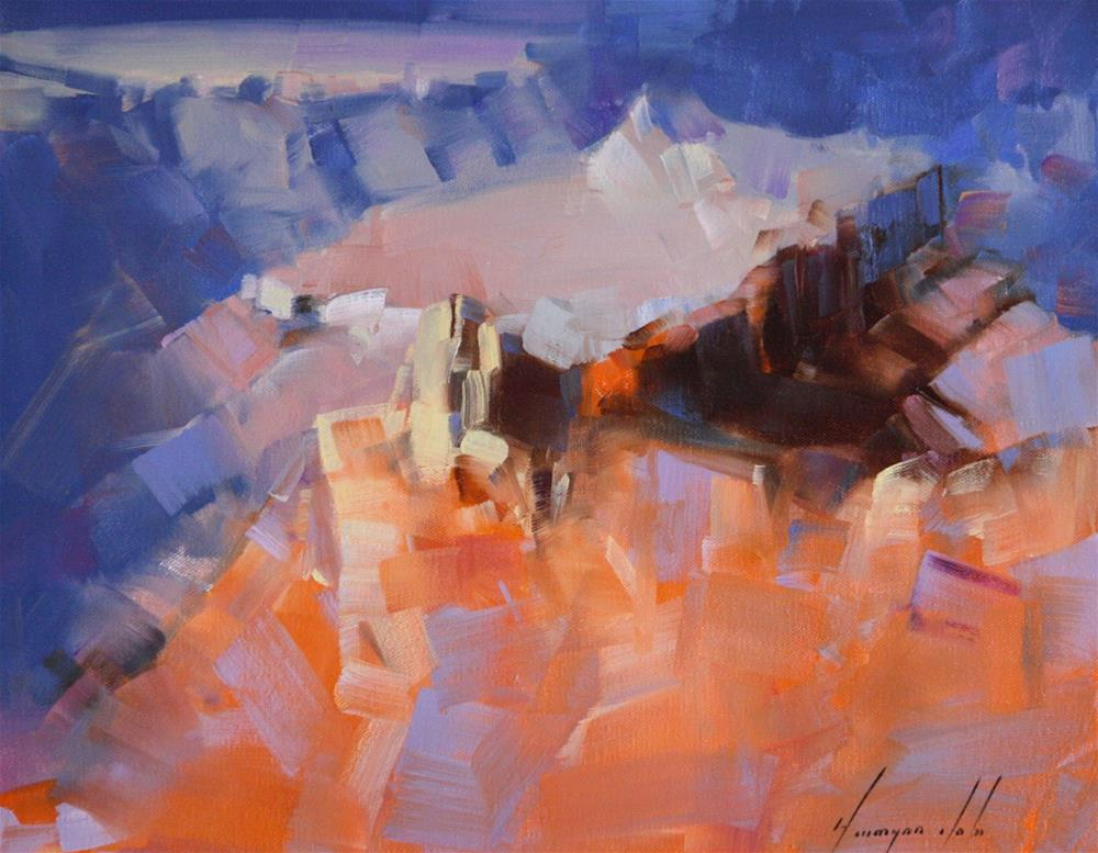 """GRAND CANYON ARIZONA OIL PAINTING"" original fine art by V Yeremyan"