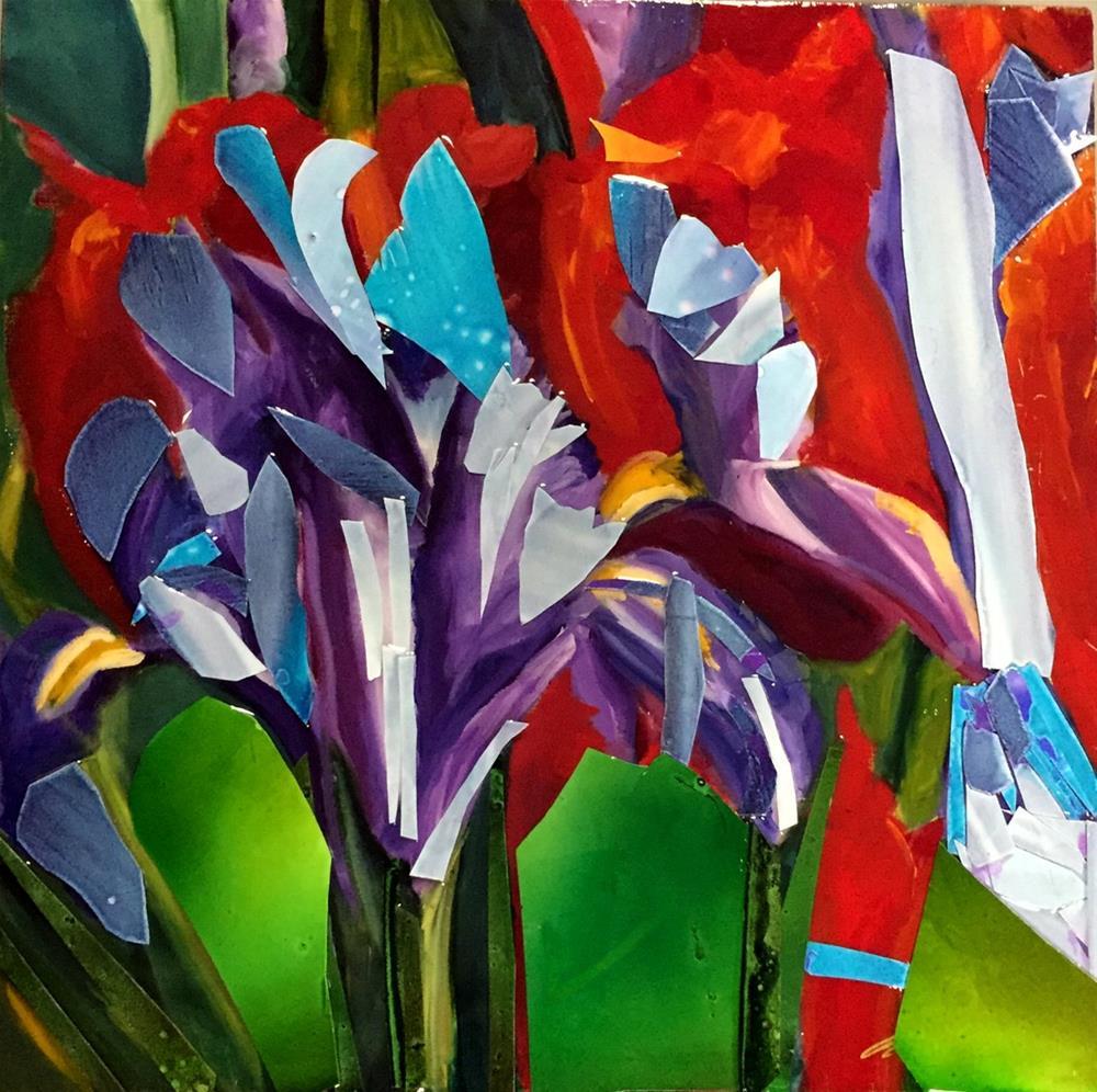 """""""Iris quilt"""" original fine art by Kristen Dukat"""