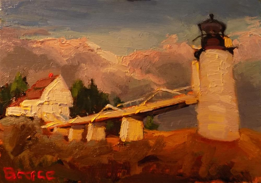 """Marshal Point Lighthouse"" original fine art by Rita Brace"