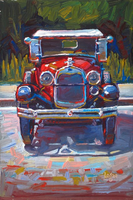 """1929 Ford Model A"" original fine art by Raymond Logan"