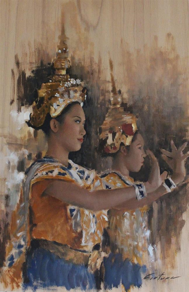 """Classical Thai Dancers"" original fine art by Phil Couture"