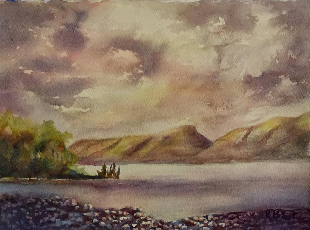 """Light on Derwent"" original fine art by Karen Peikert"