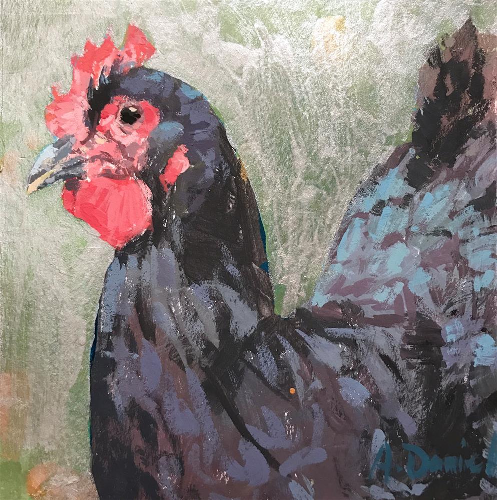 """Chicken Head #6"" original fine art by Andrew Daniel"