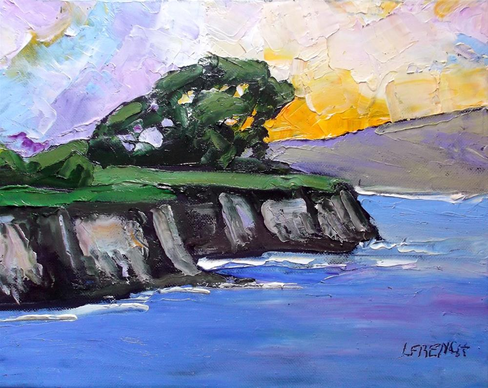 """Monterey Bay Pacific Cliffs"" original fine art by lynne french"