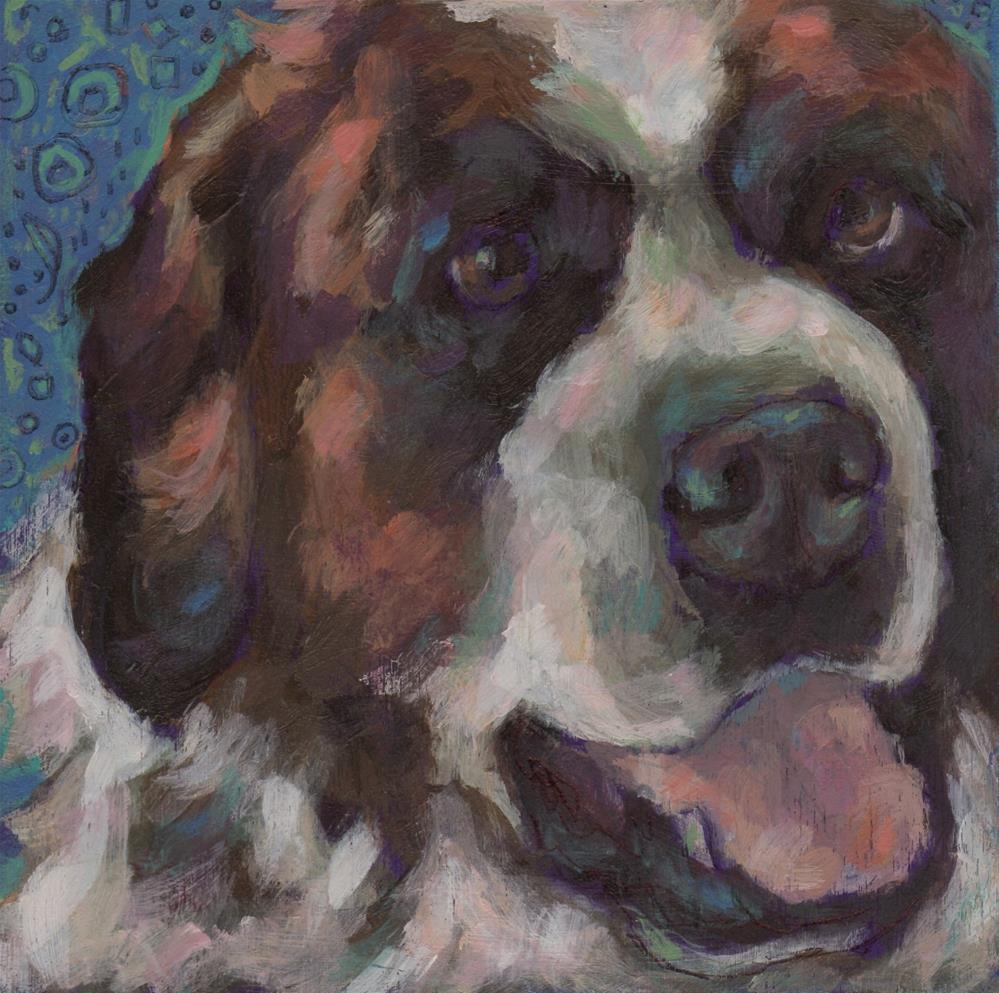 """Saint Bernard"" original fine art by Kathy Hiserman"