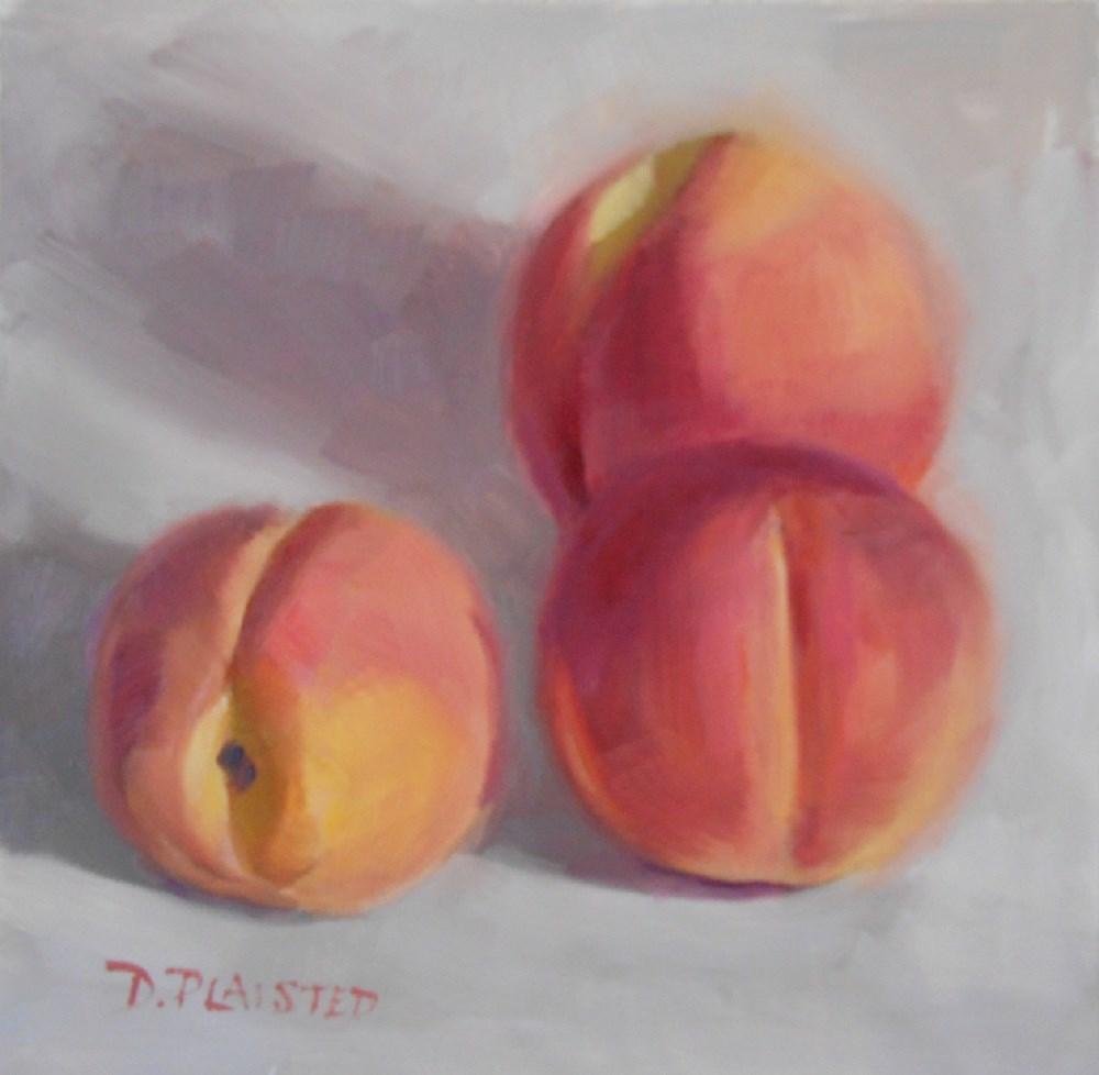 """""""Peach Trio"""" original fine art by Diane Plaisted"""