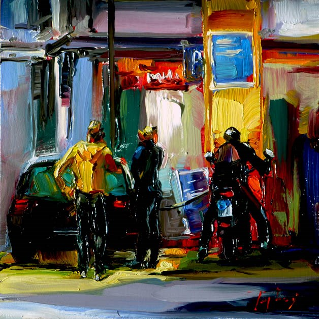 """Tankstelle"" original fine art by Jurij Frey"