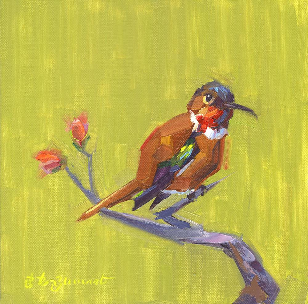 """Ruby Throat"" original fine art by B. Rex Stewart"