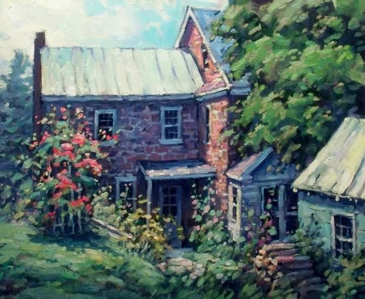 """Roses"" original fine art by J Scott Wolf"