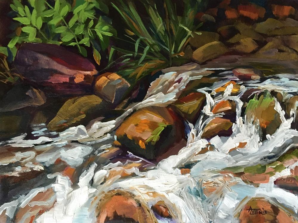 """Water on the Rocks"" original fine art by Andrea Jeris"