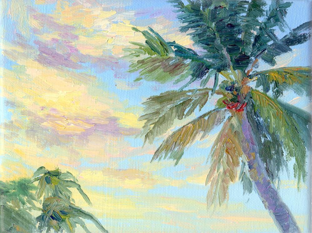 """LAS PALMAS"" original fine art by Karen E Lewis"