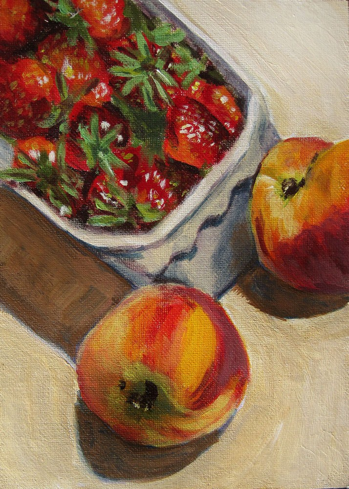 """Back from the Market 1"" original fine art by Ulrike Miesen-Schuermann"