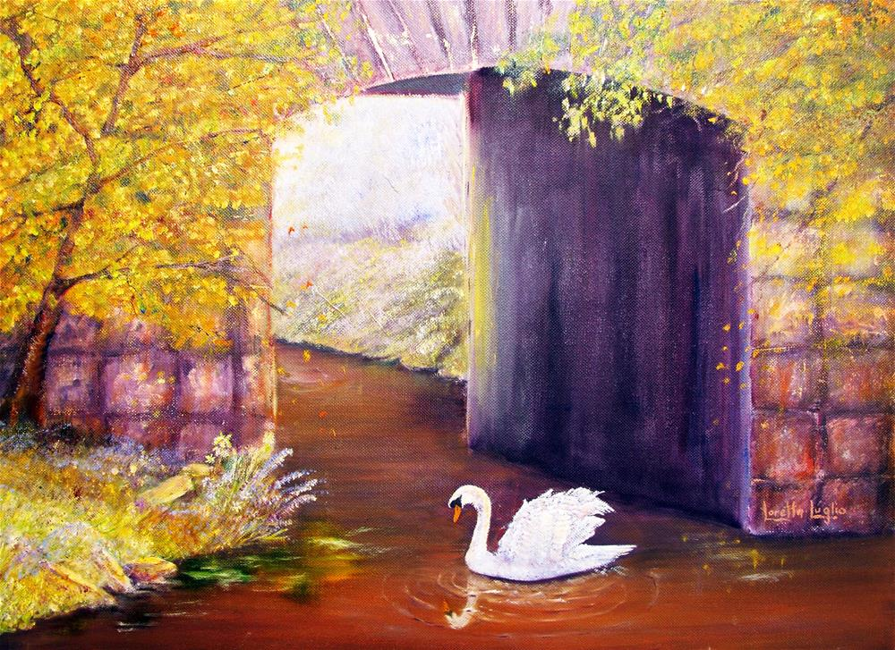 """The Mill Swan"" original fine art by Loretta Luglio"