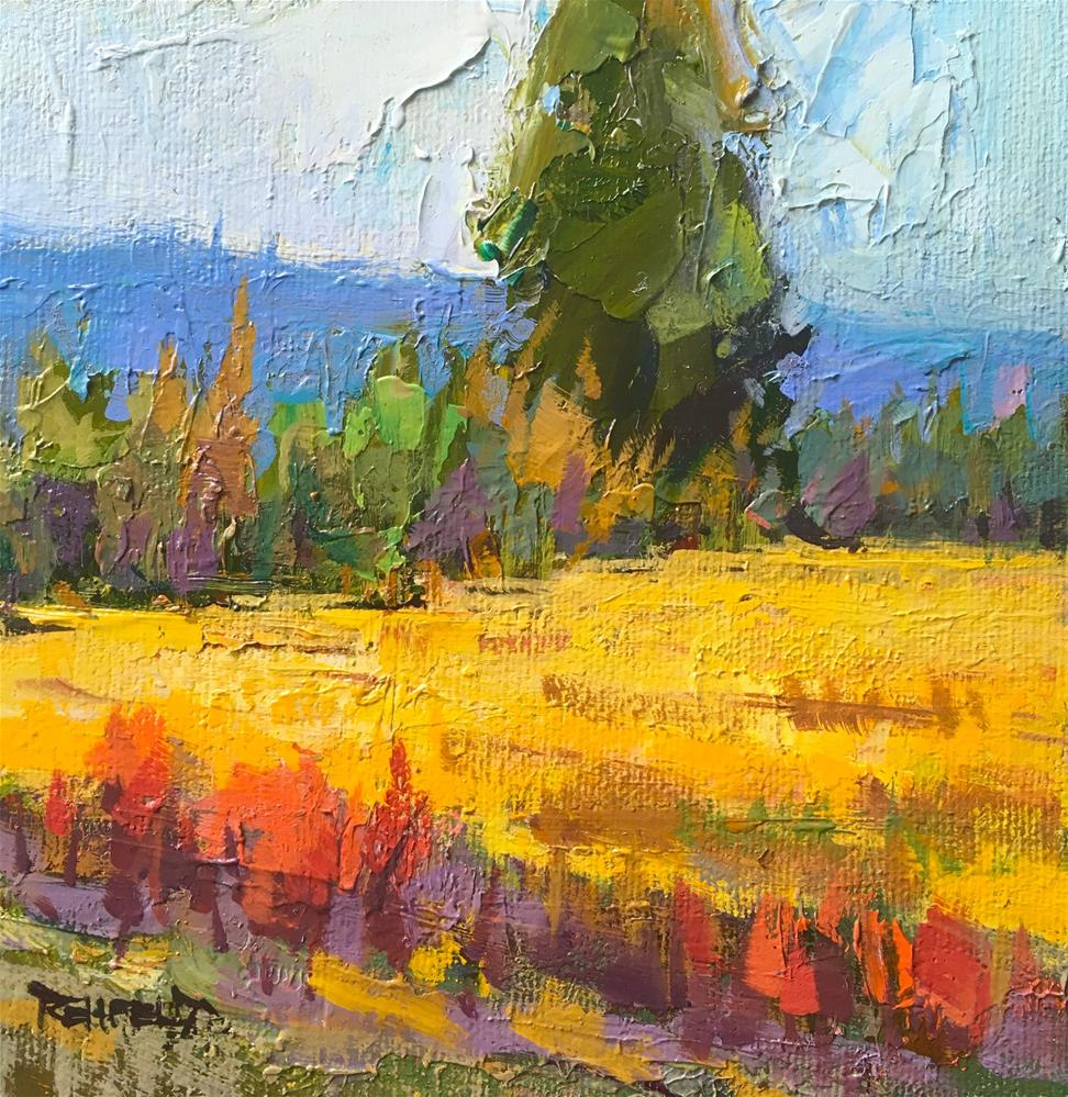 """Golden Glow of Summer"" original fine art by Cathleen Rehfeld"