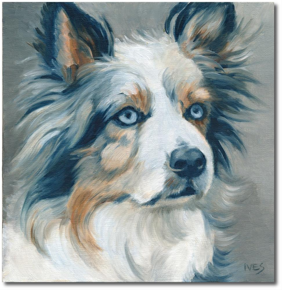 """Working Dog - Border Collie"" original fine art by Rk Ives"