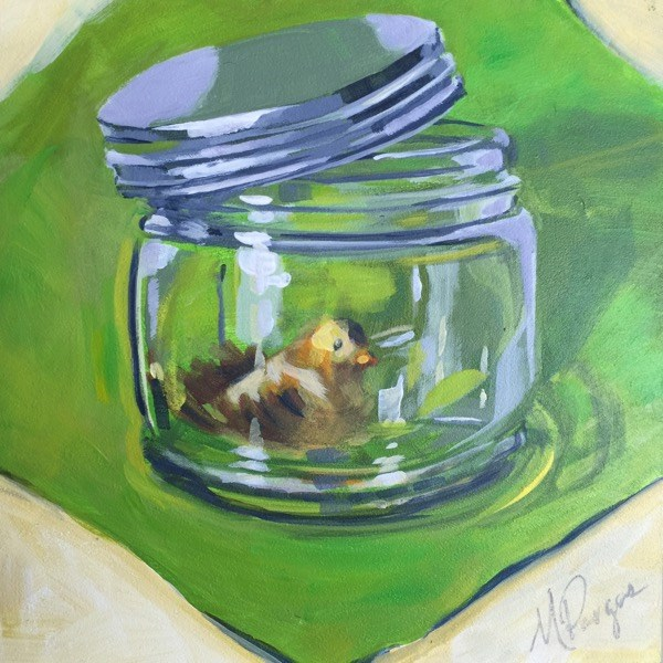 """Ajar:Possibilities"" original fine art by Mary Pargas"