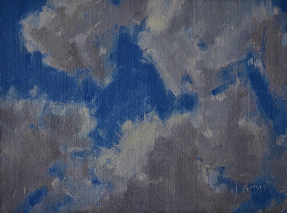 """""""Cloud Study 1"""" original fine art by Julie Davis"""