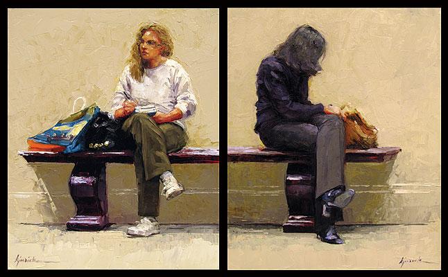 """Booster Seat I & II"" original fine art by Karin Jurick"