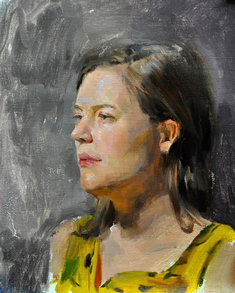 """Stephanie"" original fine art by Taisia Kuklina"