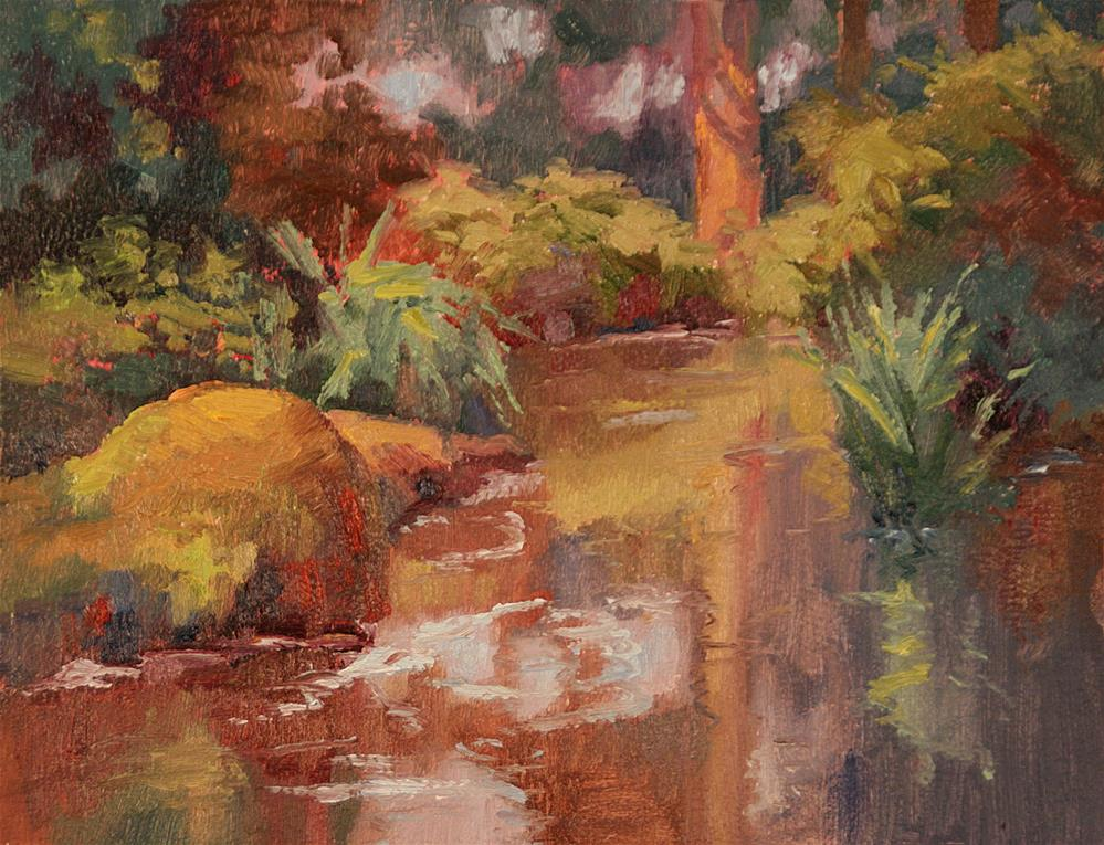 """QUIVERING POND"" original fine art by Karen E Lewis"