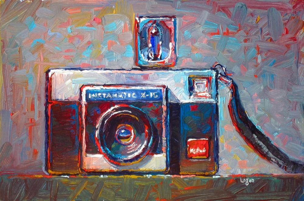 """Kodak Instamatic X-15 Camera"" original fine art by Raymond Logan"