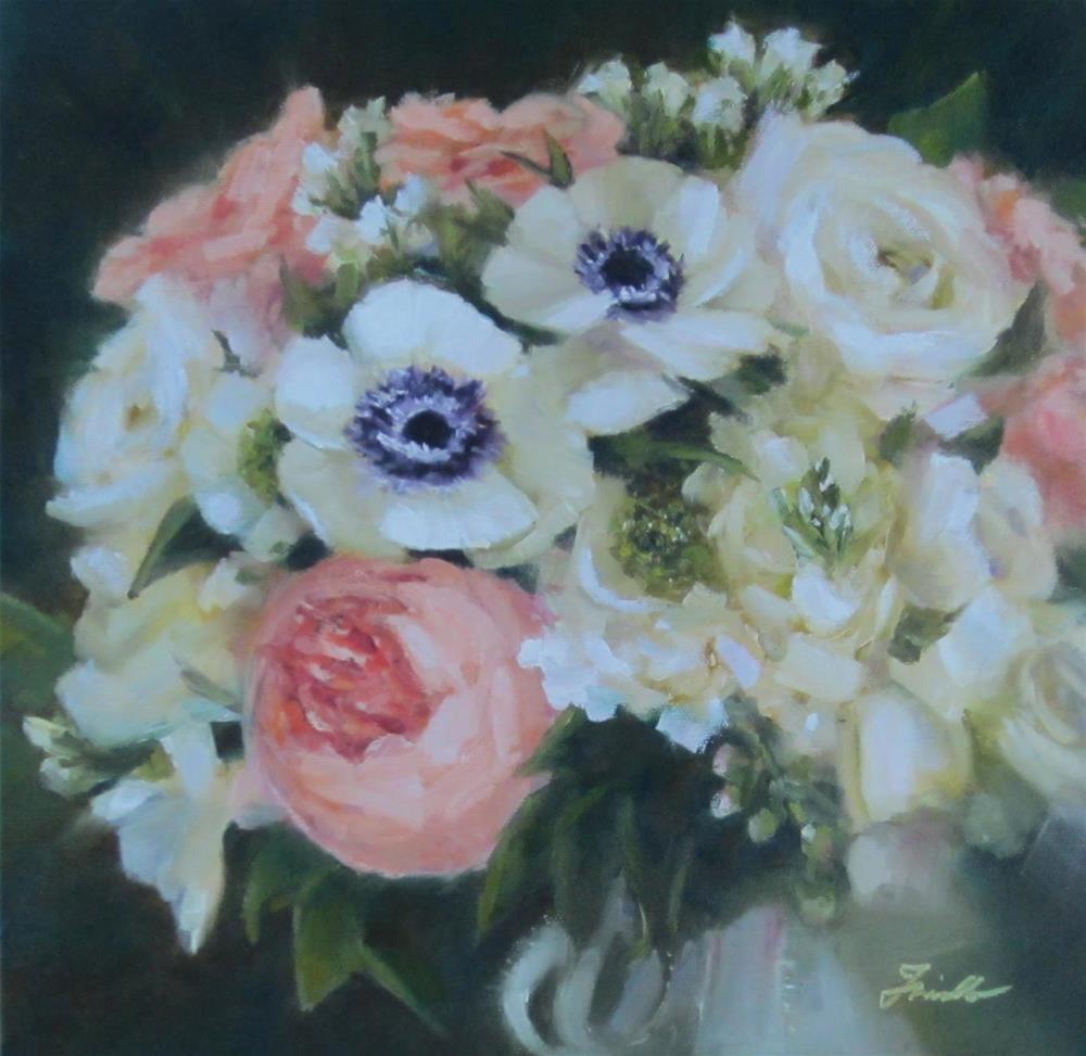 """Wedding Bouquet Painting"" original fine art by Pat Fiorello"
