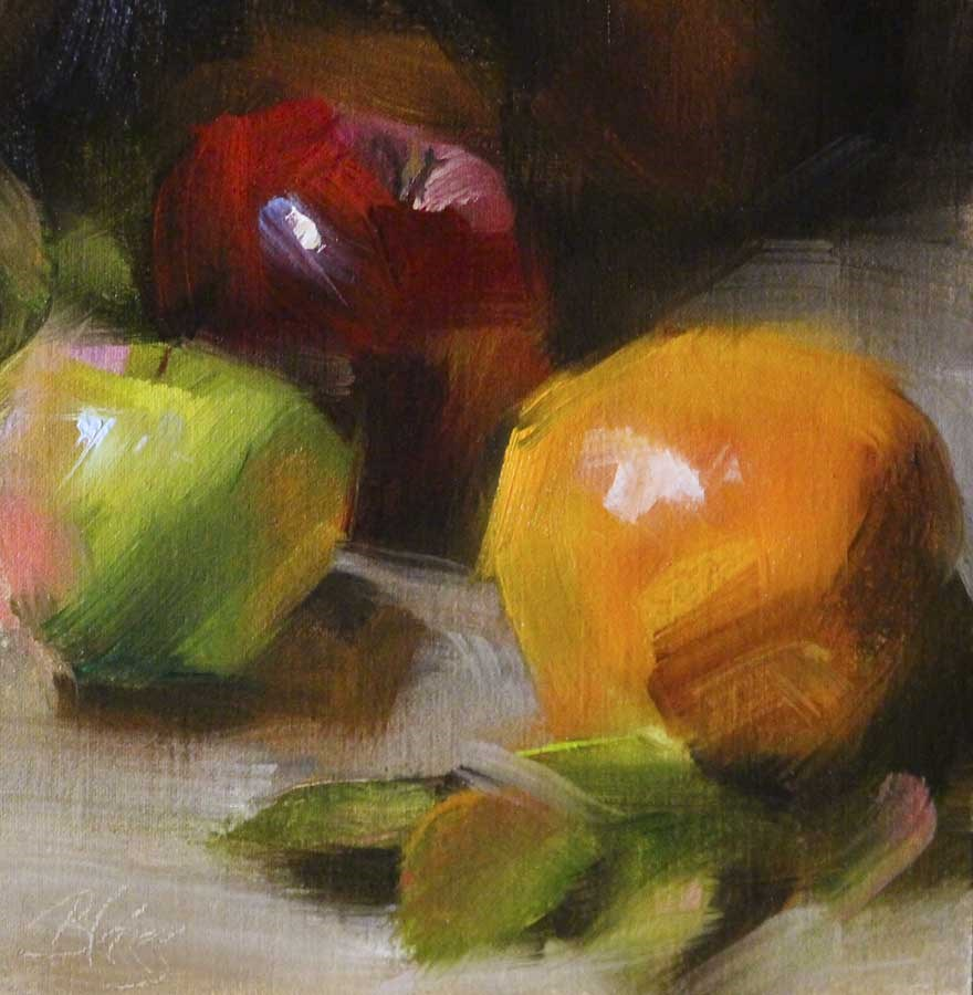 """Oranges and Apples"" original fine art by Pamela Blaies"
