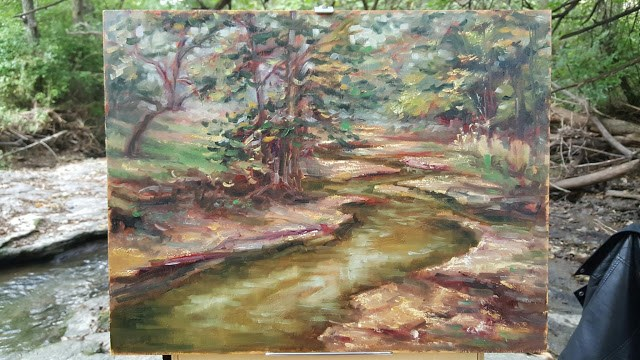 """Winding Mill Creek"" original fine art by Tammie Dickerson"