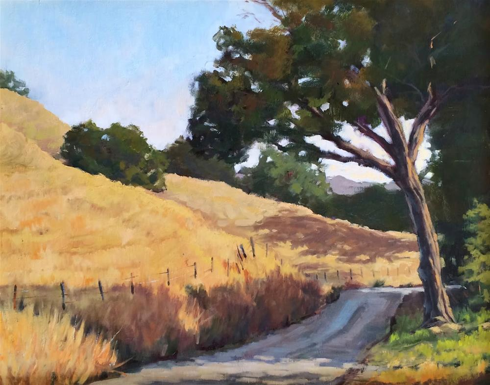 """Country Road"" original fine art by Deborah Newman"