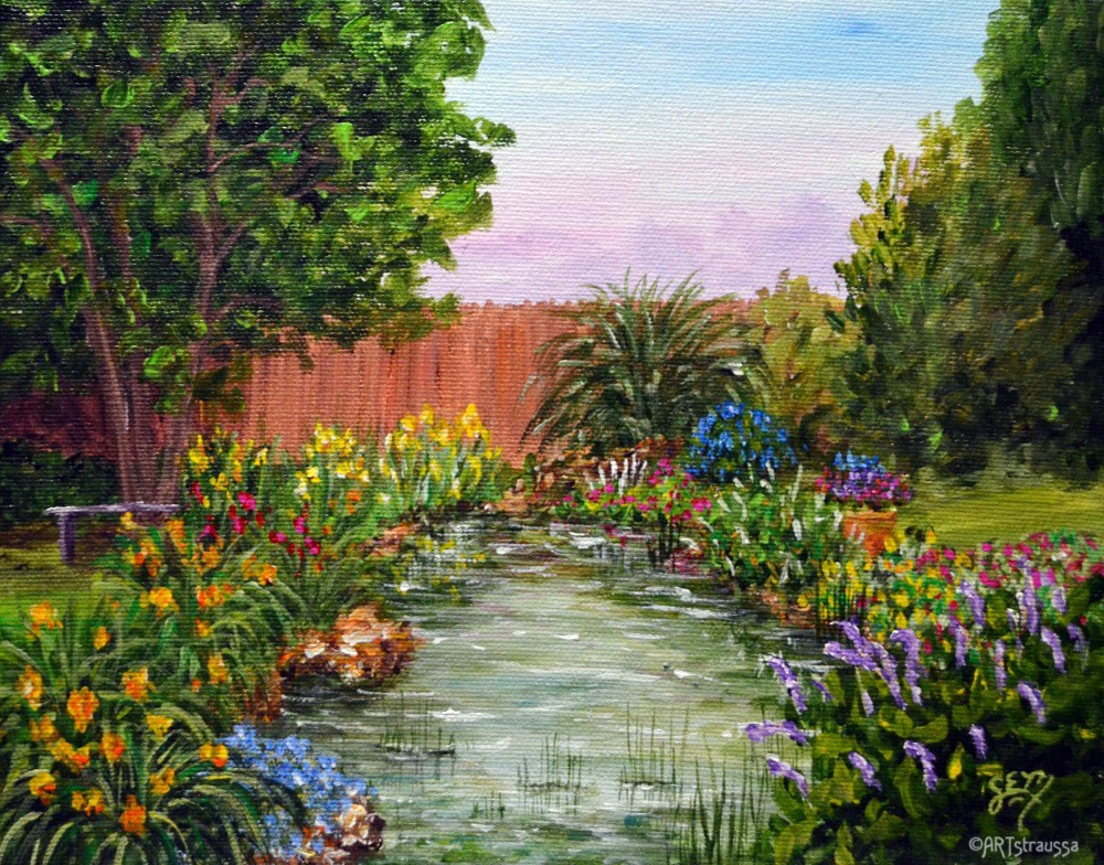"""Pond Of Laddy Put"" original fine art by Gloria Ester"