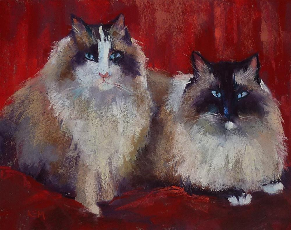 """Three Things I've Learned about Painting Cats & Dogs"" original fine art by Karen Margulis"
