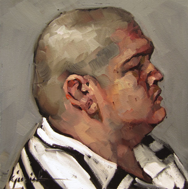 """100 Faces, No. 38"" original fine art by Karin Jurick"
