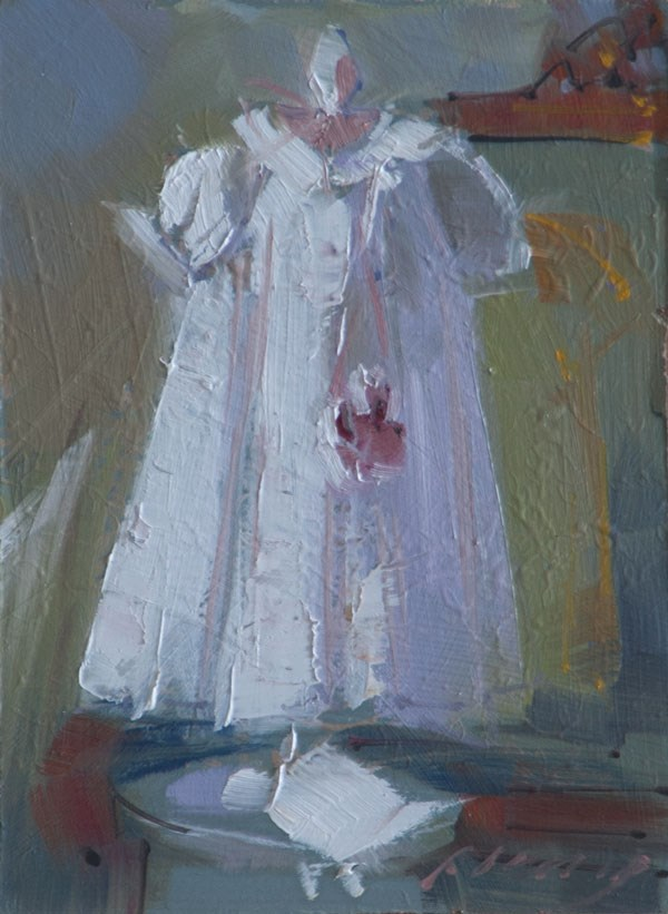 """Little Christening Dress"" original fine art by Patricia Canney"