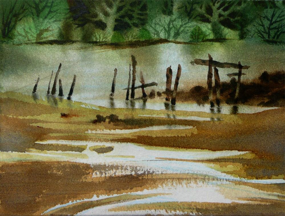 Ebbing Tide, Spring Estuary original fine art by Arena Shawn