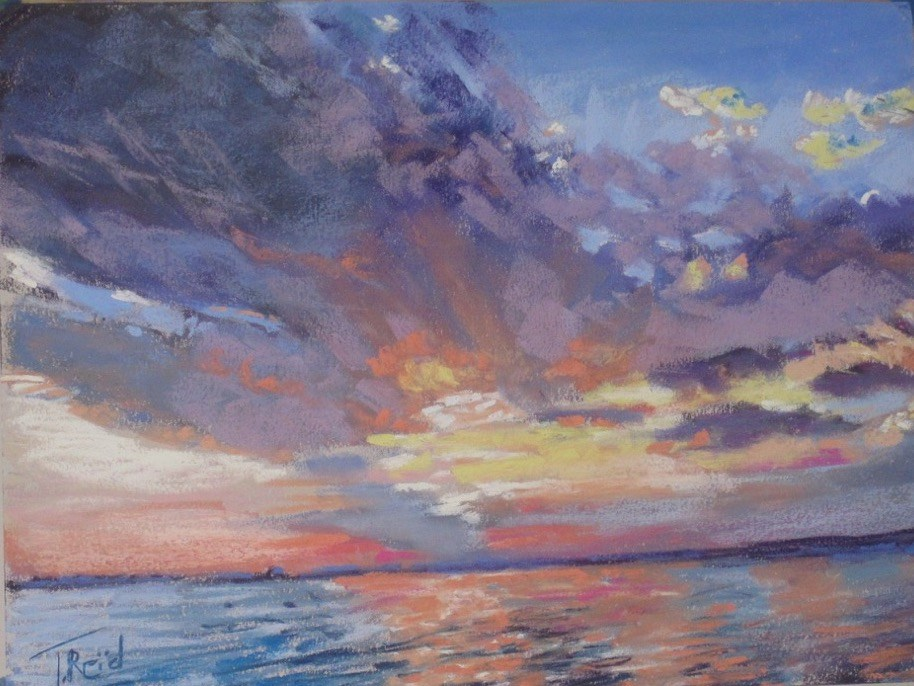 """David's Onoo Island Sunset"" original fine art by Toby Reid"