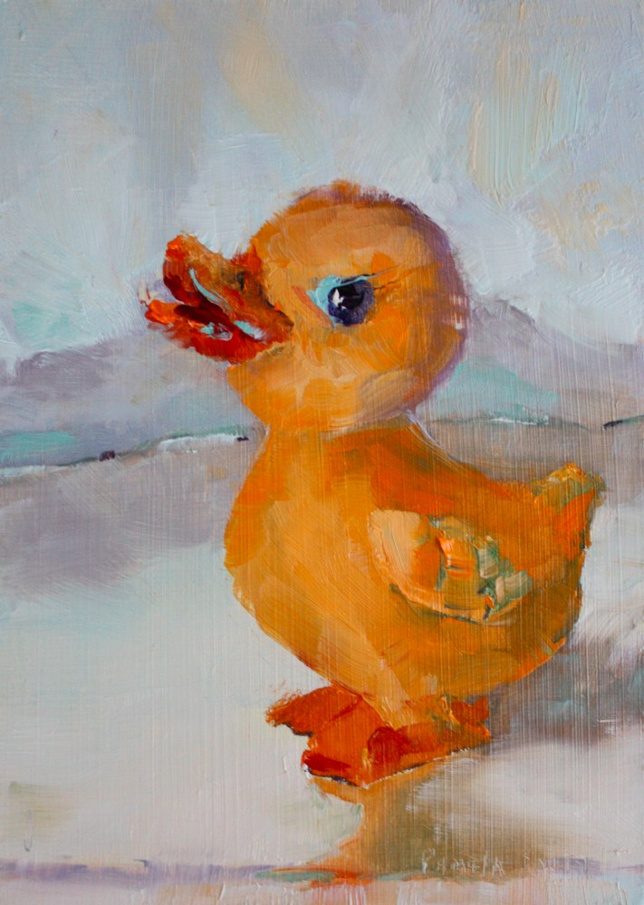 """Rubber Duckie Your the One"" original fine art by Pamela Sweet"