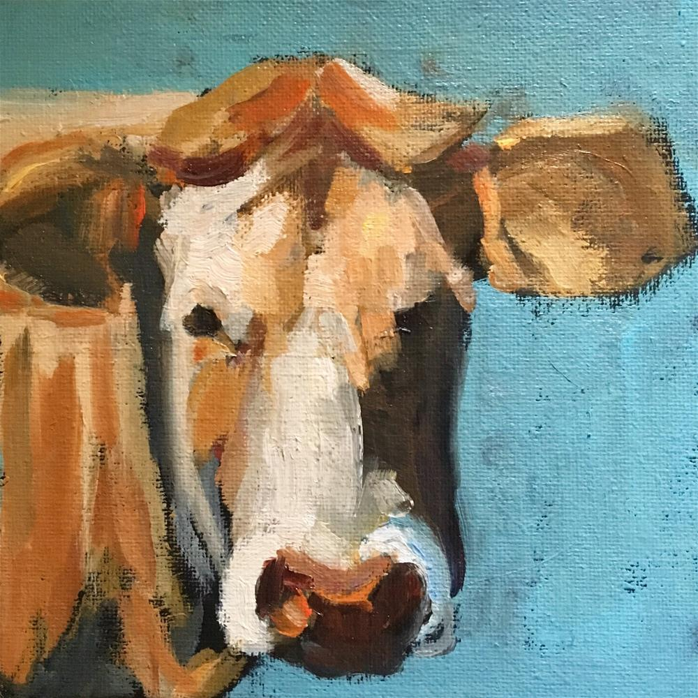 """Mister Moo"" original fine art by Wanda Lowery"