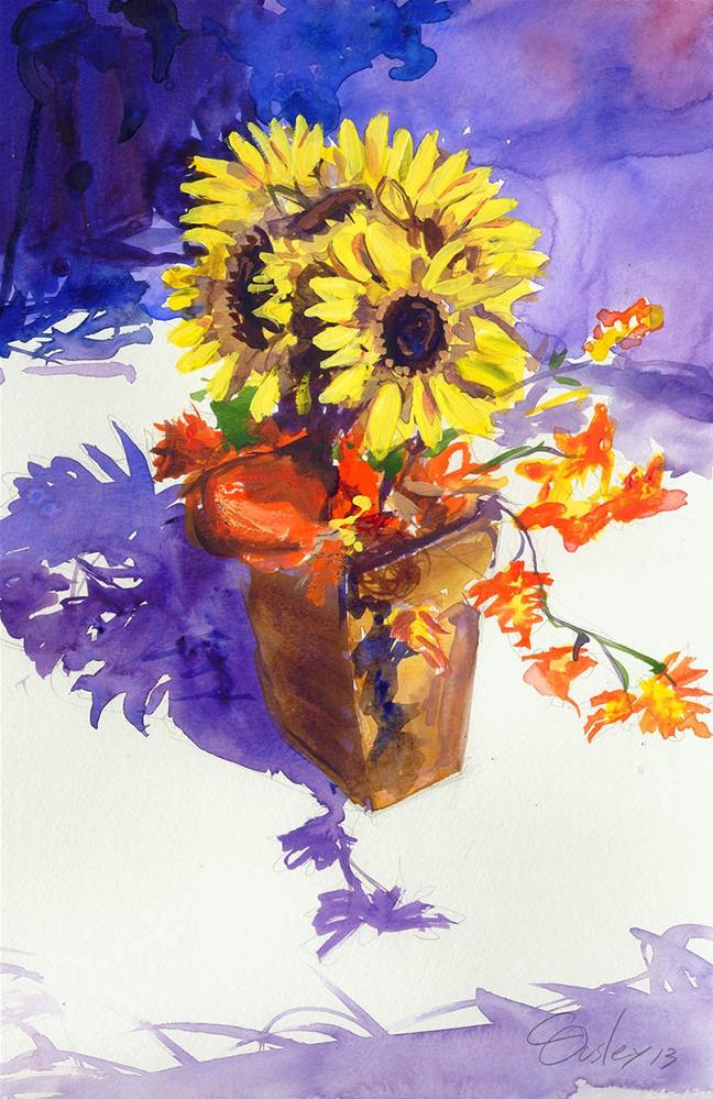 """Sunflower Arrangement"" original fine art by Chris Ousley"