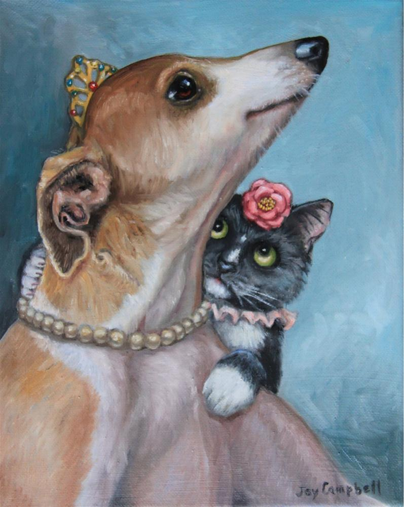"""Princess and Friend"" original fine art by Joy Campbell"