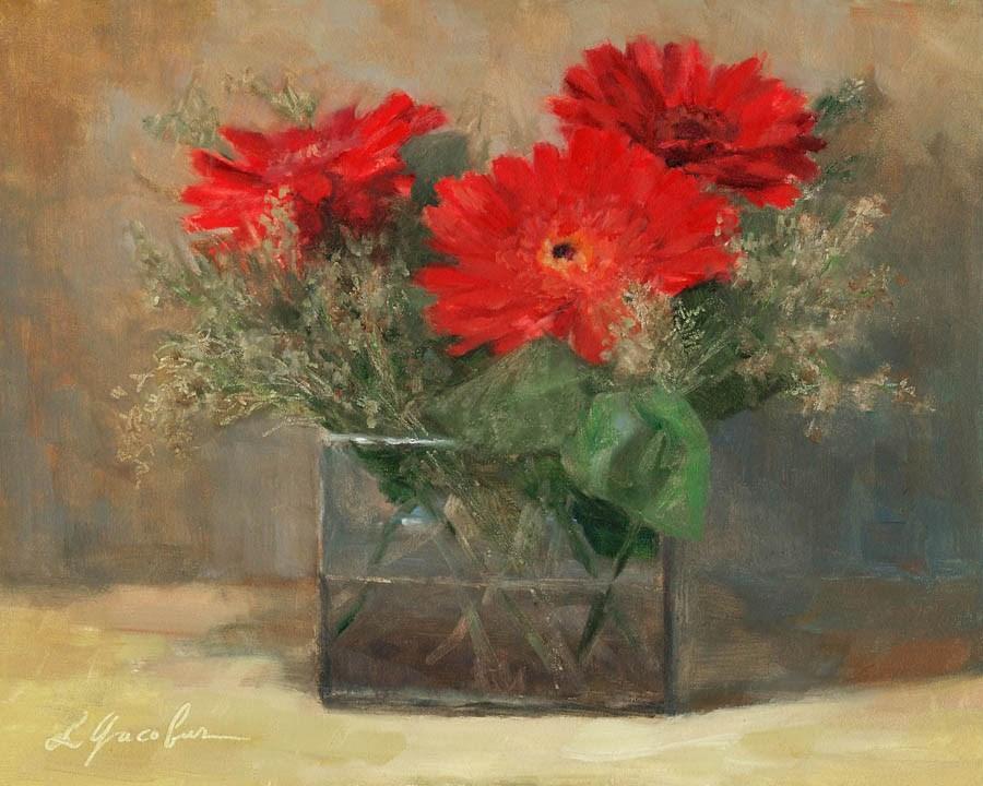 """Gerberas"" original fine art by Linda Jacobus"
