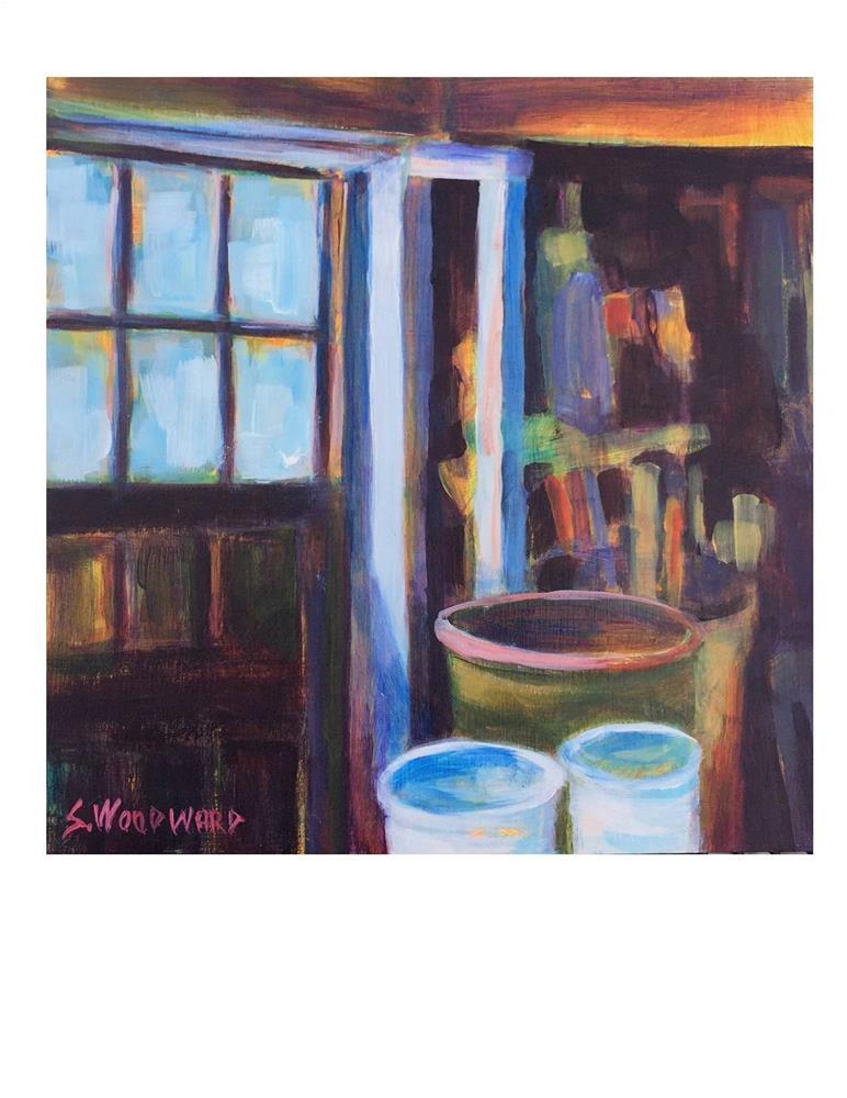 """""""Garage Stuff 2"""" original fine art by Suzanne Woodward"""