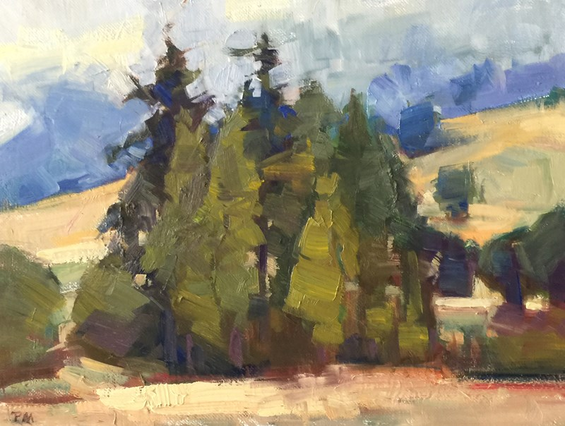 """The Way to Glide, Oregon"" original fine art by Patti McNutt"