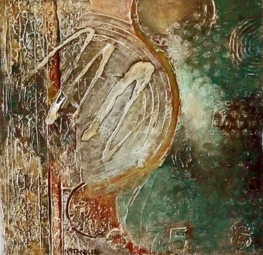 Apollo:Gray to Moonscape 11044 (SOLD) original fine art by Nancy Standlee