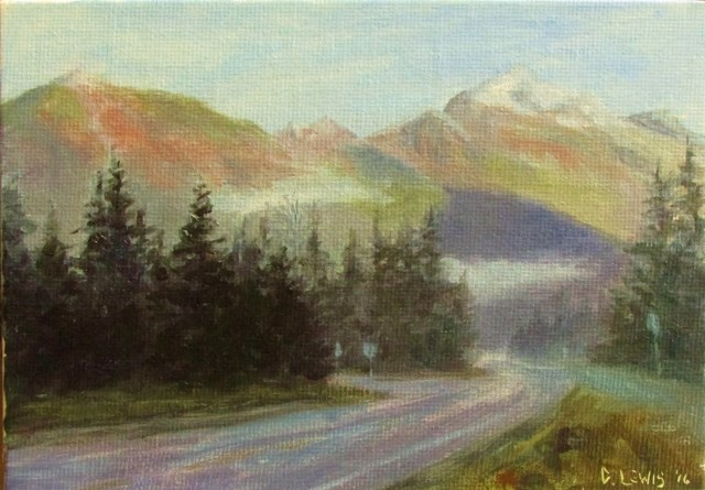 """Beautiful Mendenhall Morning"" original fine art by Christine Lewis"