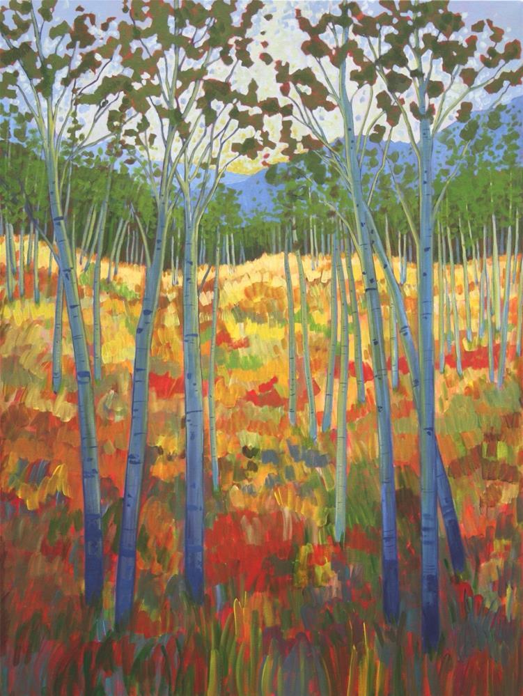 """Field of Blue Birch"" original fine art by Sage Mountain"