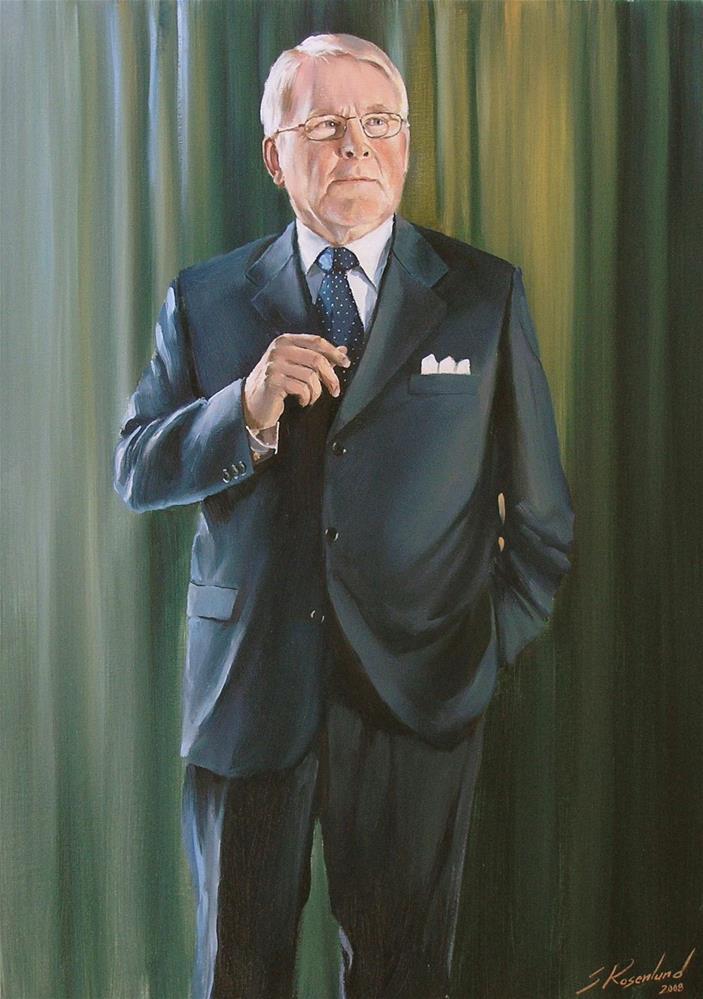 """Commissioned portrait"" original fine art by Stig Rosenlund"
