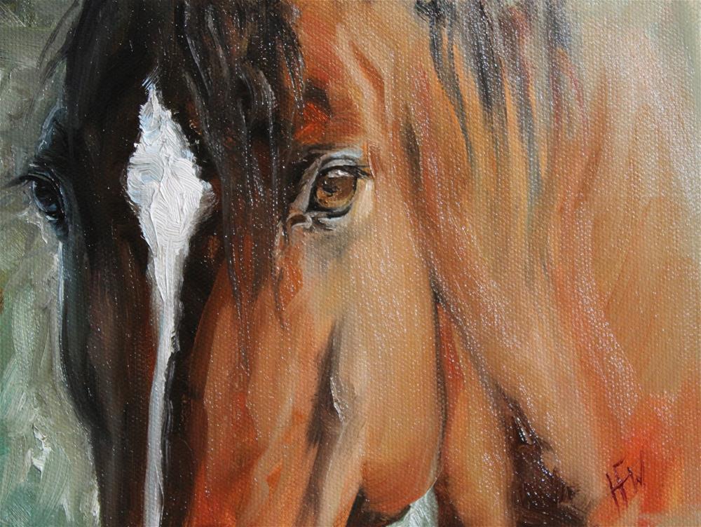 """""""Beautiful Eyes"""" original fine art by H.F. Wallen"""