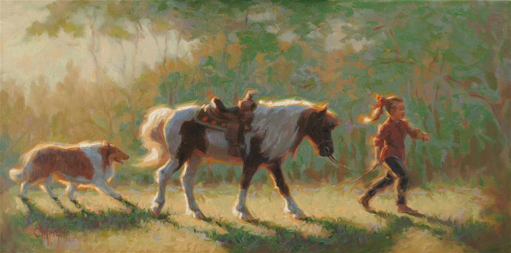 """""""Julia's World"""" original fine art by Cecile W. Morgan"""