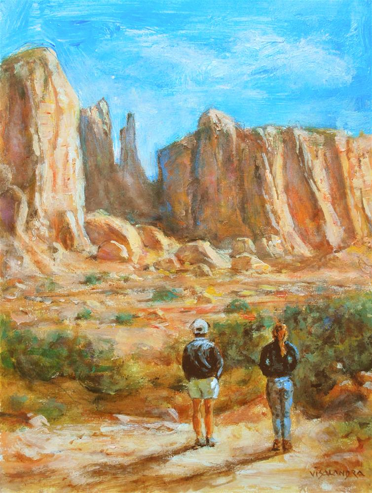 """Arizona tourists 3"" original fine art by vishalandra dakur"